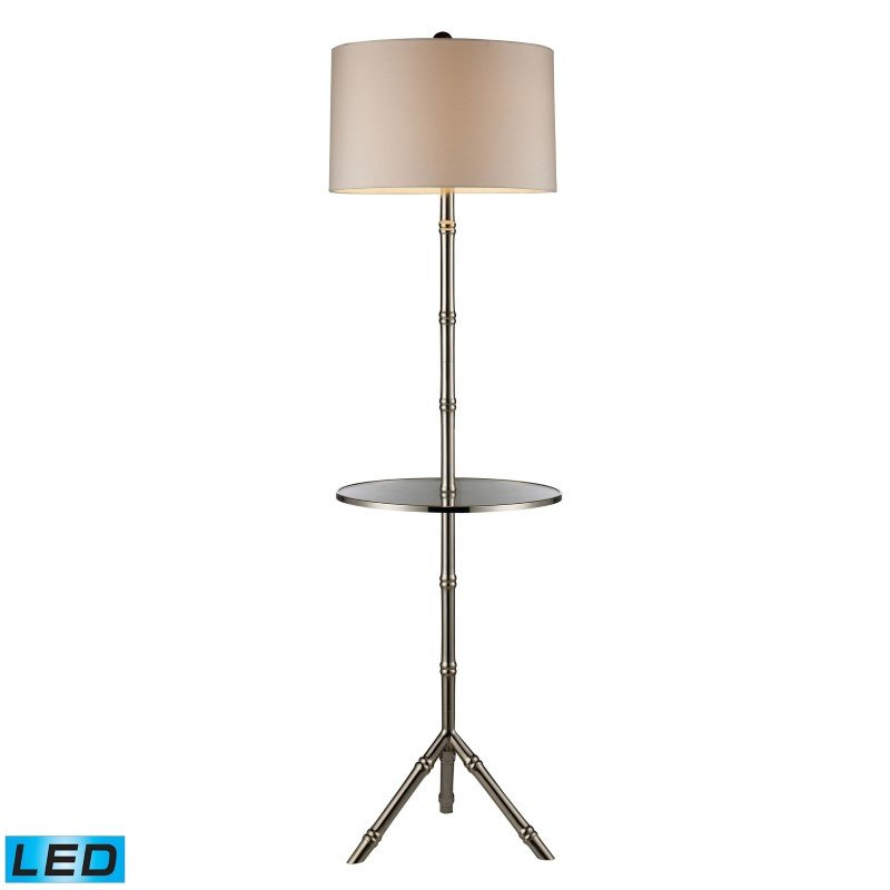 Dimond Lighting Stanton LED Table Lamp In Silver Plating With Glass Tray And Pure White Shade (D1403S-LED)