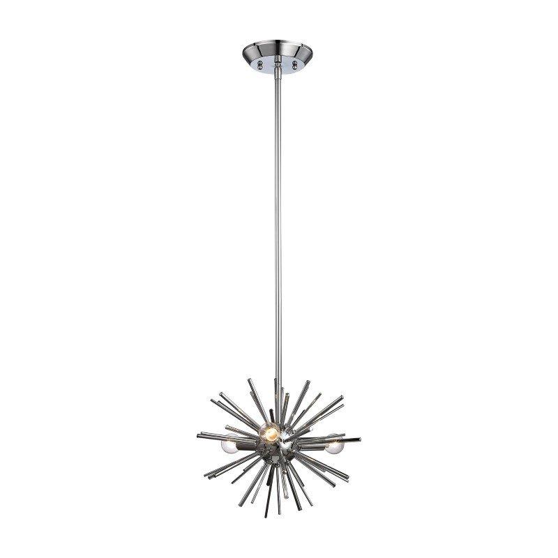 Dimond Lighting Starburst 3 Light Pendant In Chrome (1140-026)