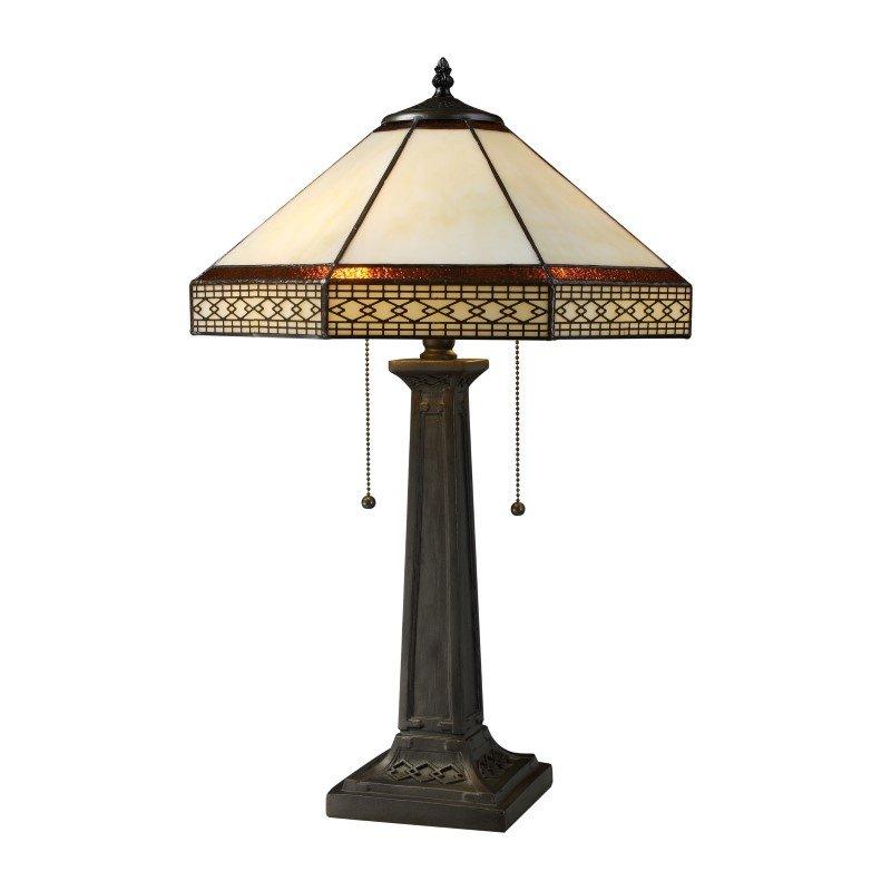 Dimond Lighting Stone Filigree 2 Light Table Lamp In Tiffany Bronze (D1858)