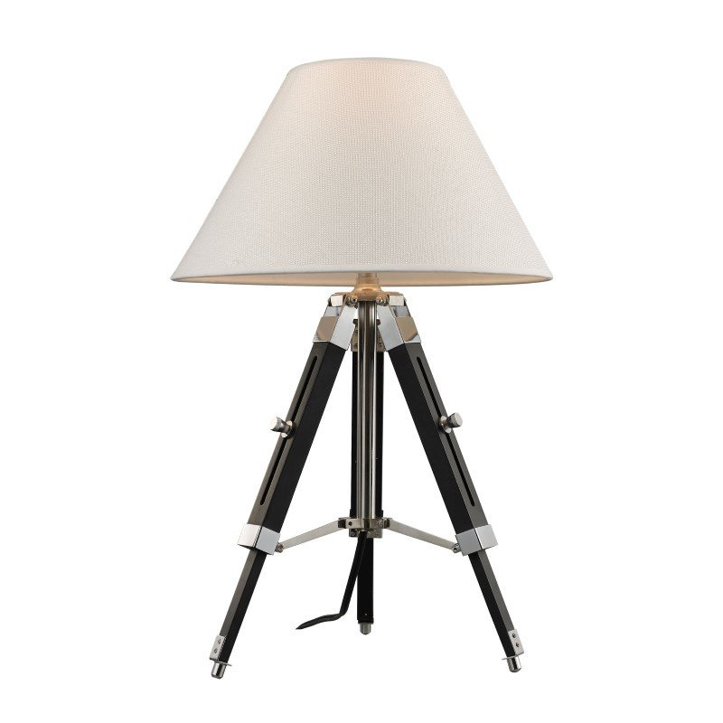 Dimond Lighting Studio Table Lamp In Chrome And Black With Woven Linen Shade (D2125)