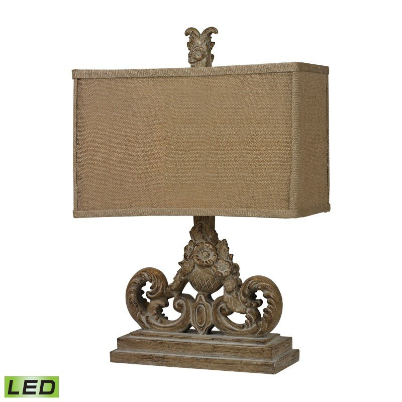 Dimond Lighting Sutherlin LED Table Lamp in Aged Wood (D2413-LED)
