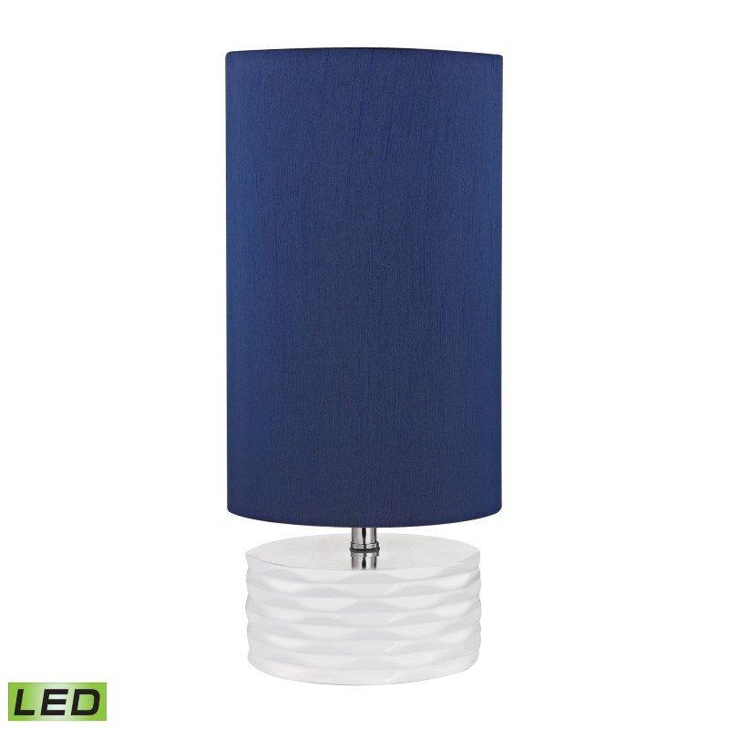 Dimond Lighting Tamworth Ceramic LED Table Lamp in White (D2522-LED)