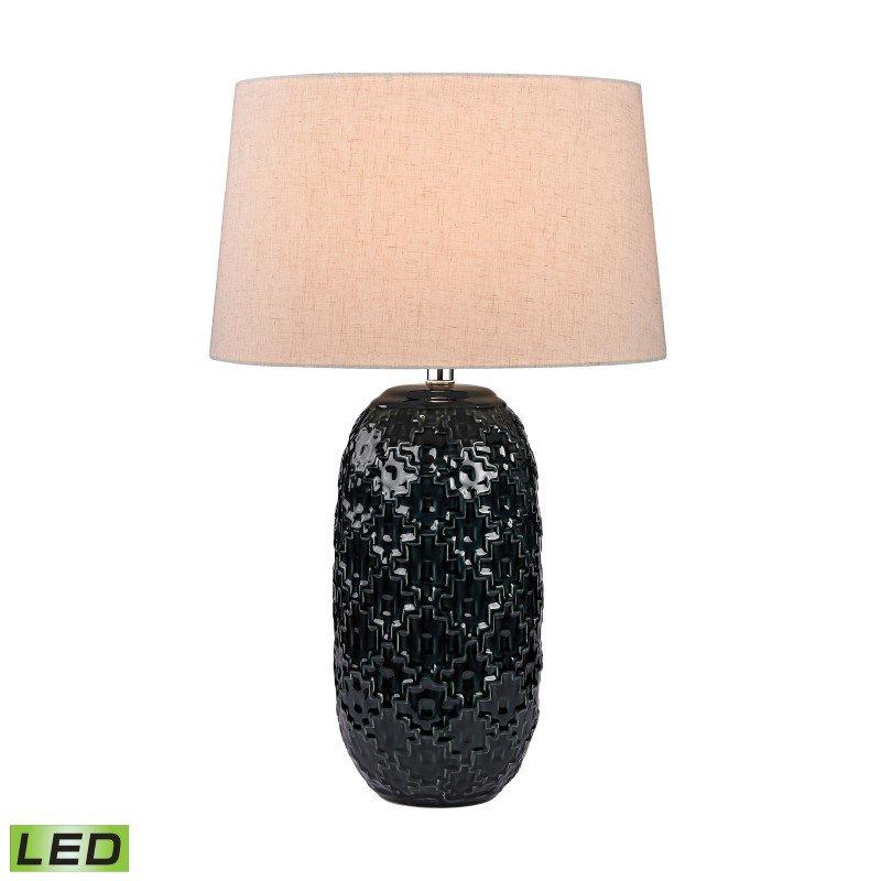 Dimond Lighting Teal Ceramic Bun LED Table Lamp (D2866-LED)