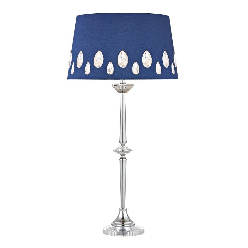 Dimond Lighting Telford Buffet Lamp In Chrome With Laser Cut Shade (D2525)