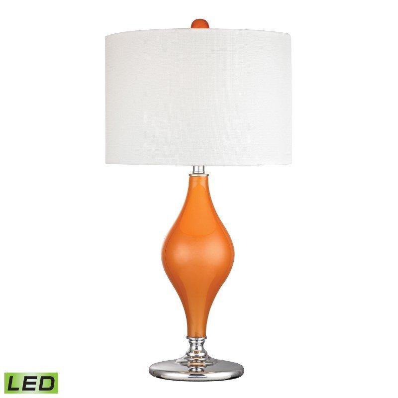 Dimond Lighting Tilbury Glass LED Table Lamp in Tangerine Orange (D2508-LED)
