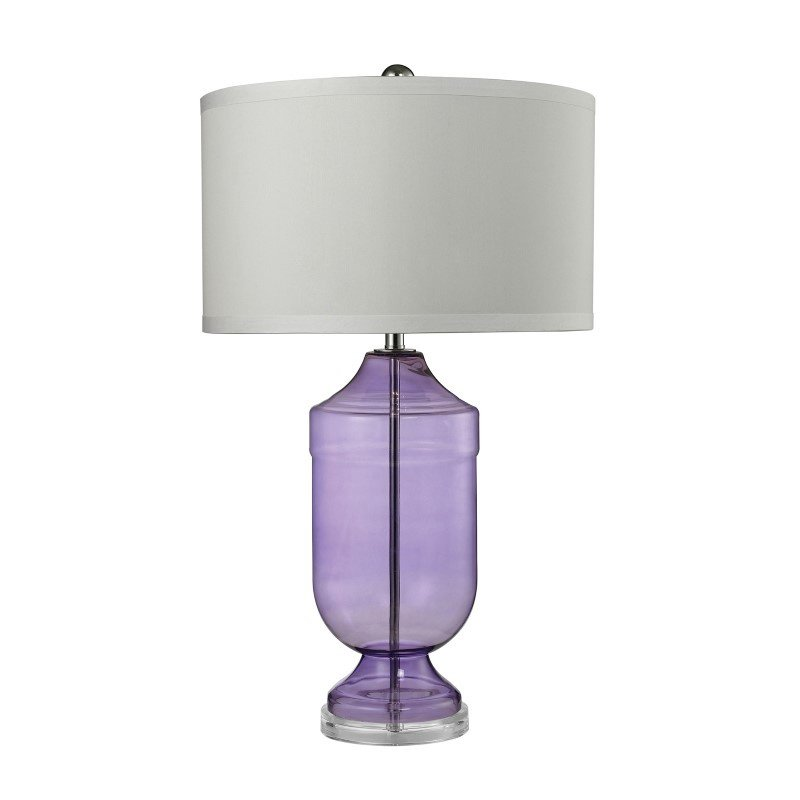 Dimond Lighting Translucent Trophy Table Lamp in Purple Glass (D2565)