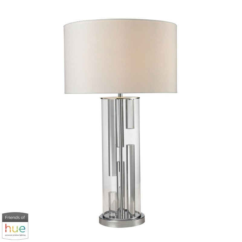 Dimond Lighting Trump Home Castello Clear Glass Table Lamp in Polished Chrome with Philips Hue LED Bulb/Bridge (D2674-HUE-B)