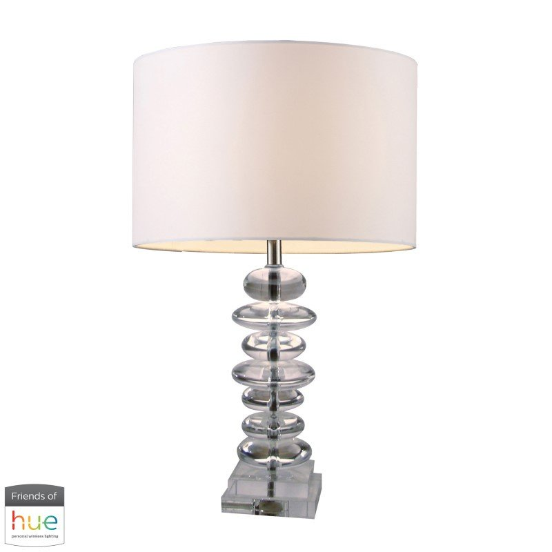 Dimond Lighting Trump Home Madison Table Lamp in Clear Crystal with Philips Hue LED Bulb/Bridge (D1512-HUE-B)