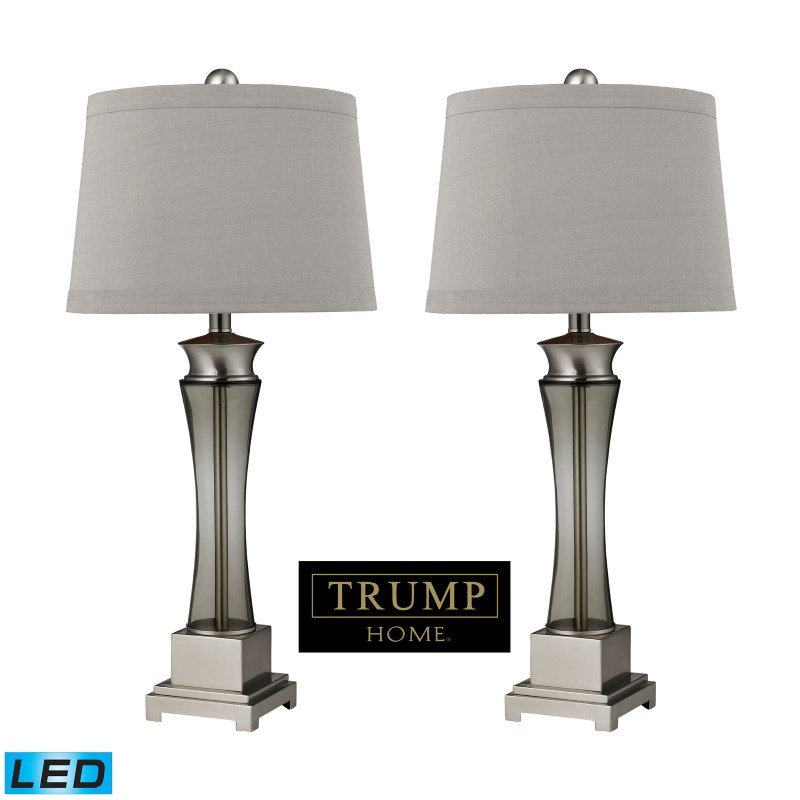 Dimond Lighting Trump Home Onassis LED Table Lamps in Nickel Finish (Set of 2) (D2339/s2-LED)