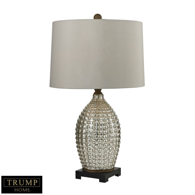 Dimond Lighting Trump Home Reverse Hammered Glass Table Lamp in Antique Mercury (D2601)