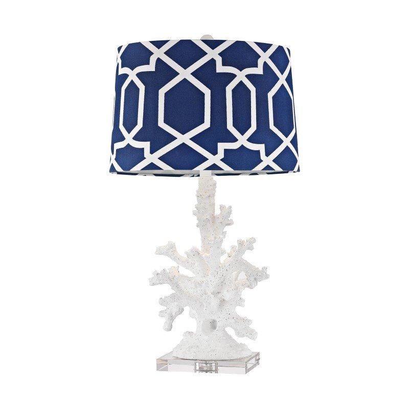 Dimond Lighting Trunk Bay 1 Light Table Lamp In Gloss White (D2934)