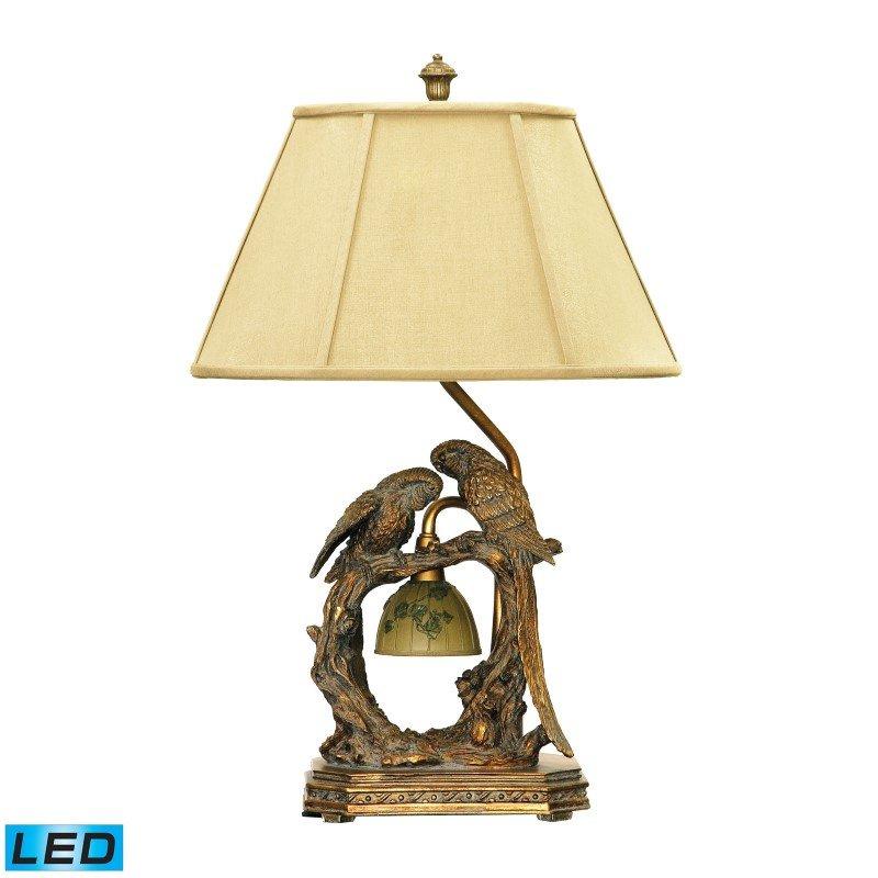 Dimond Lighting Twin Parrots LED Table Lamp in Atlanta Bronze (91-507-LED)