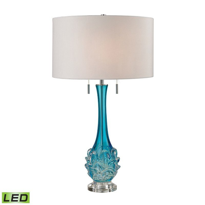 Dimond Lighting Vignola Free Blown Glass LED Table Lamp in Blue (D2666W-LED)