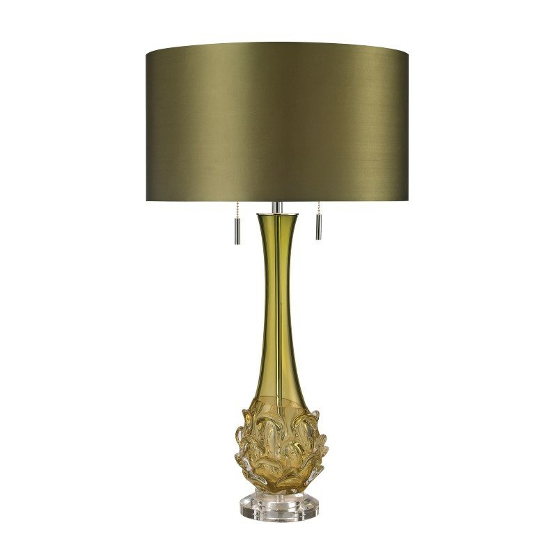 Dimond Lighting Vignola Free Blown Glass Table Lamp in Green (D2667)