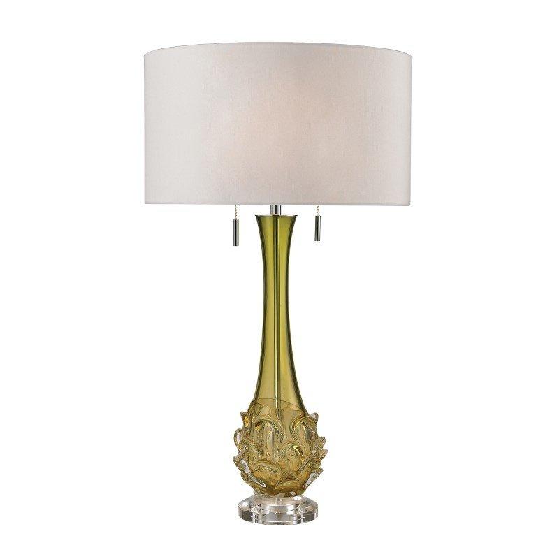 Dimond Lighting Vignola Free Blown Glass Table Lamp in Green (D2667W)