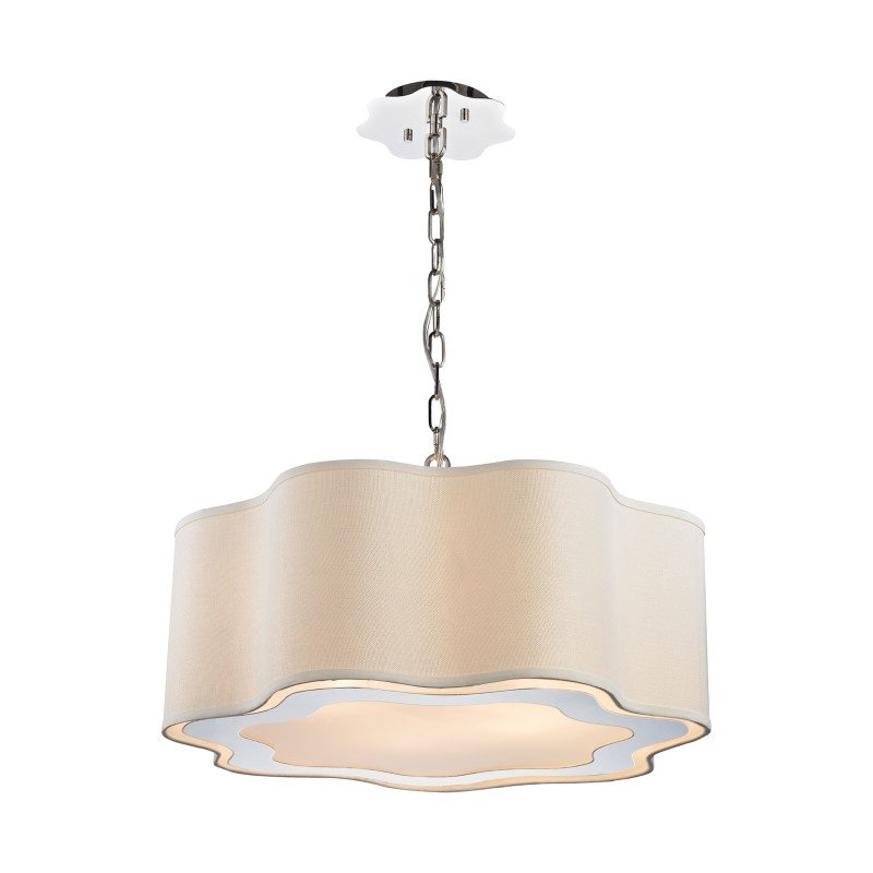 Dimond Lighting Villoy 6 Light Drum Pendant In Polished Stainless Steel And Nickel (1140-019)