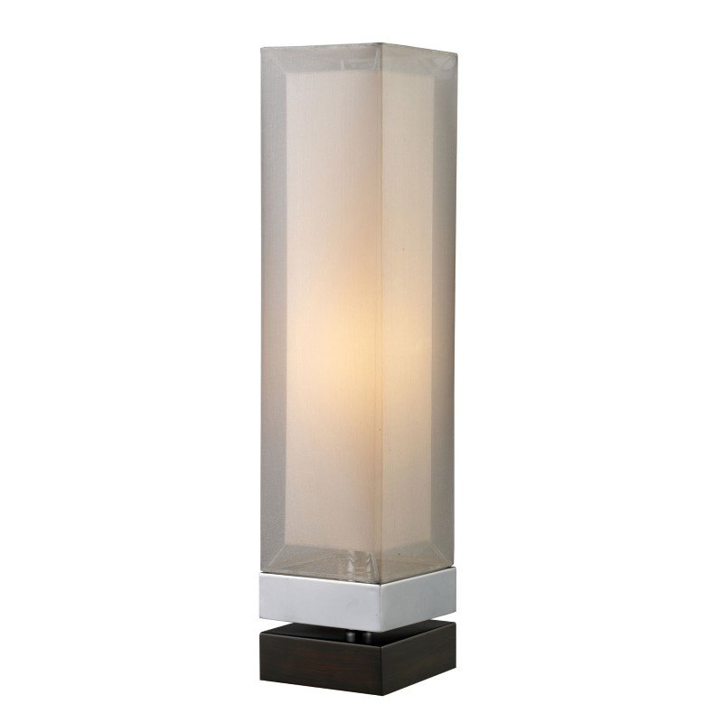 Dimond Lighting Volant Table Lamp In Chrome And Painted Espresso Base With Double Framed Shade (D1409)