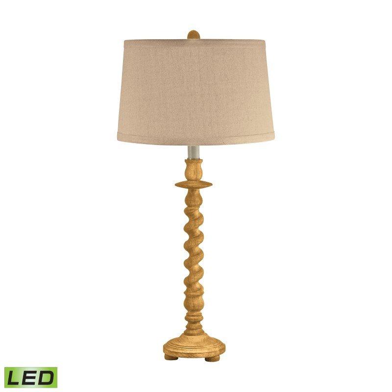 Dimond Lighting Washed Wood Barley Twist LED Table Lamp ( 802-LED)