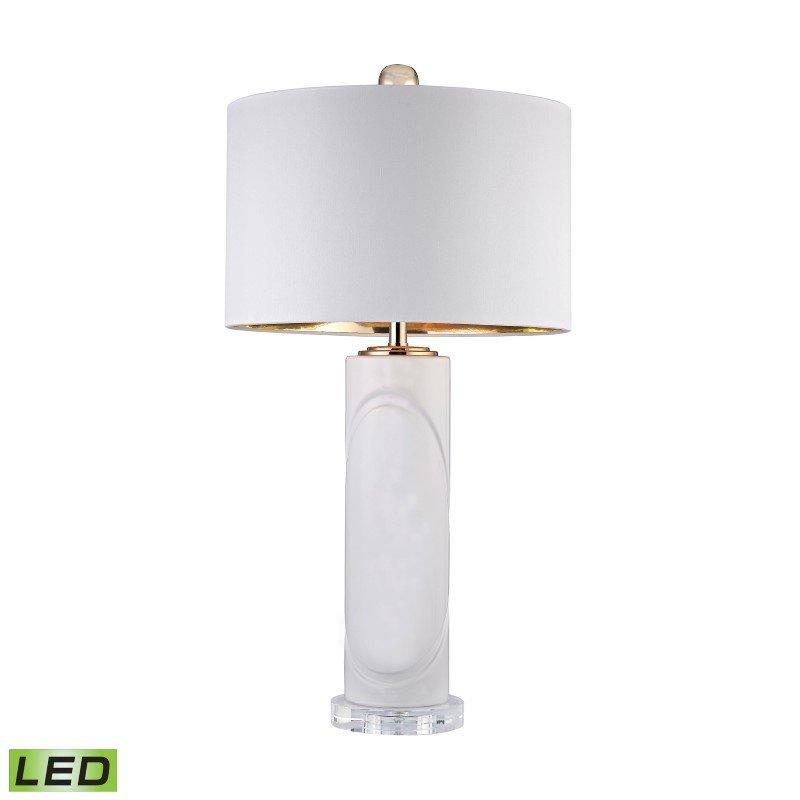 Dimond Lighting White Embossed Oval LED Lamp (D2752-LED)