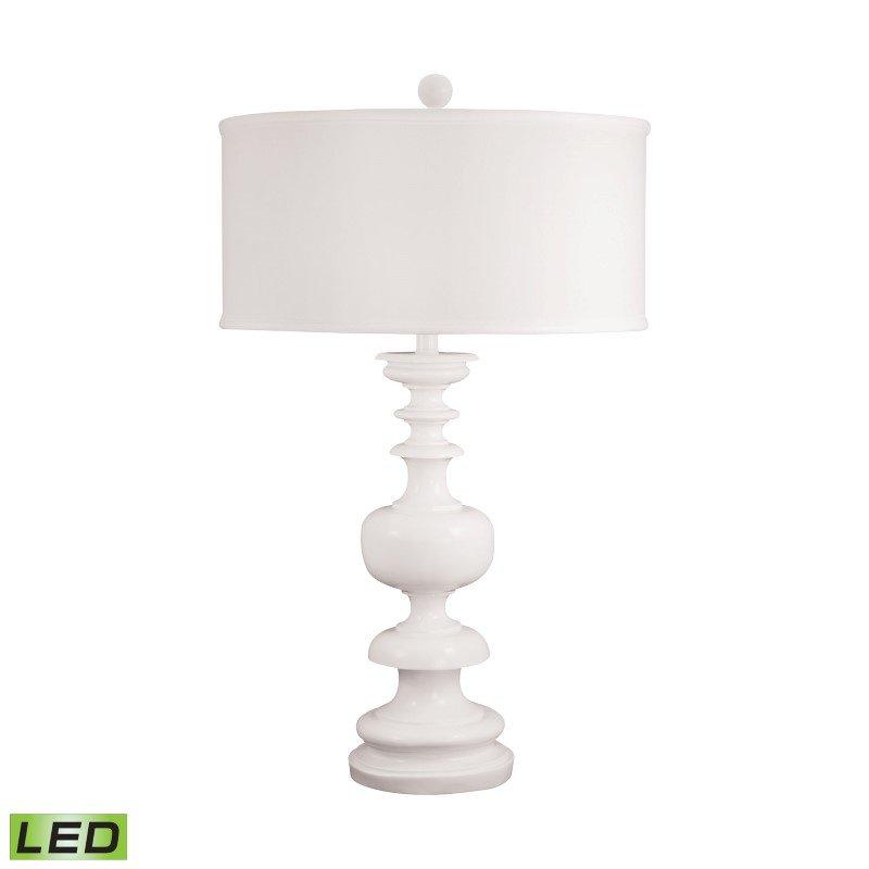 Dimond Lighting White Gloss Urn LED Table Lamp ( 550-LED)