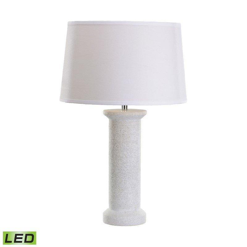 Dimond Lighting White Marble Rough Round LED Table Lamp (8989-004-LED)