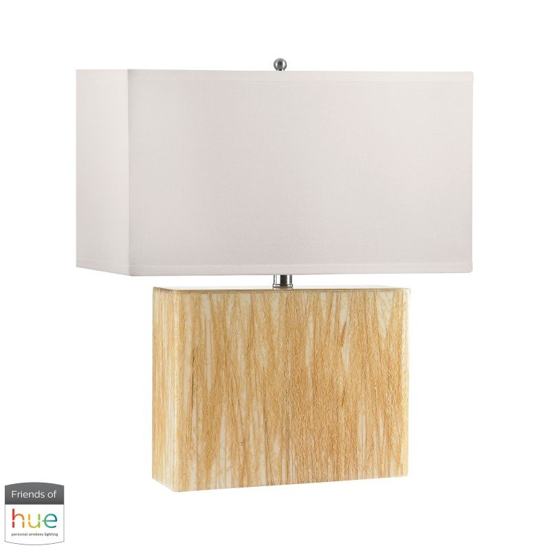 Dimond Lighting Wild Wheat Acrylic Table Lamp with Night Light with Philips Hue LED Bulb/Dimmer (352-HUE-D)