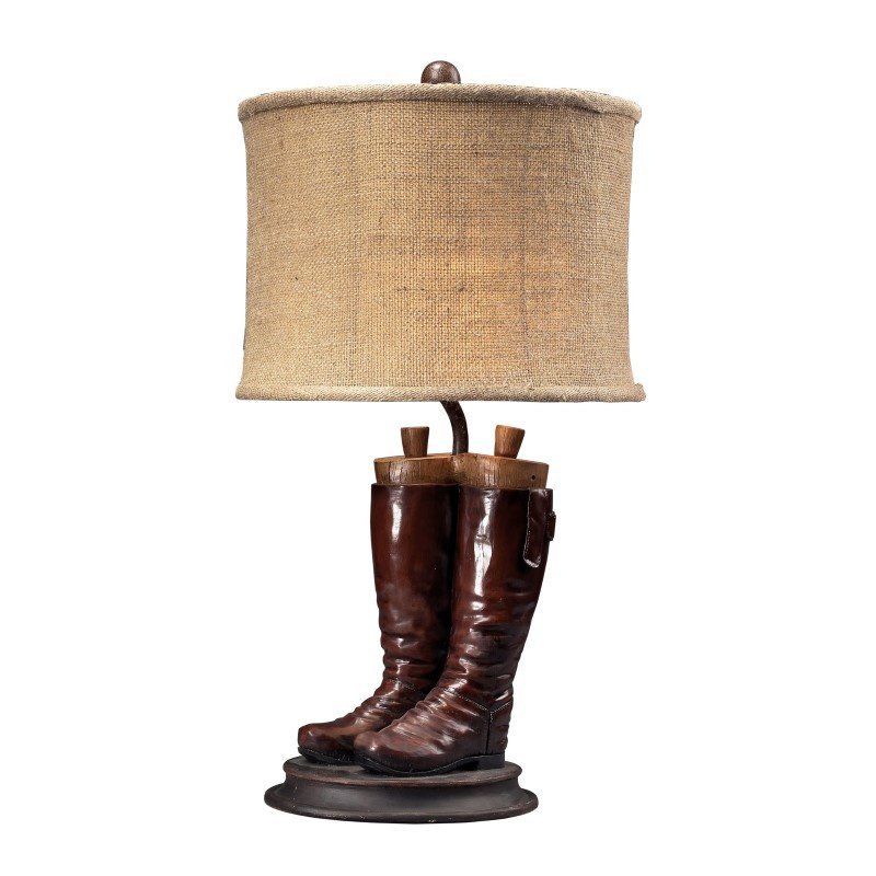 Dimond Lighting Wood River Table Lamp in Polished Tan (93-10012)