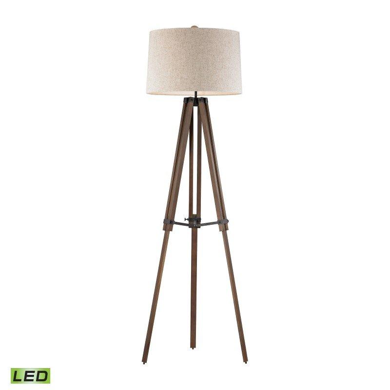 Dimond Lighting Wooden Brace LED Tripod Floor Lamp (D2817-LED)