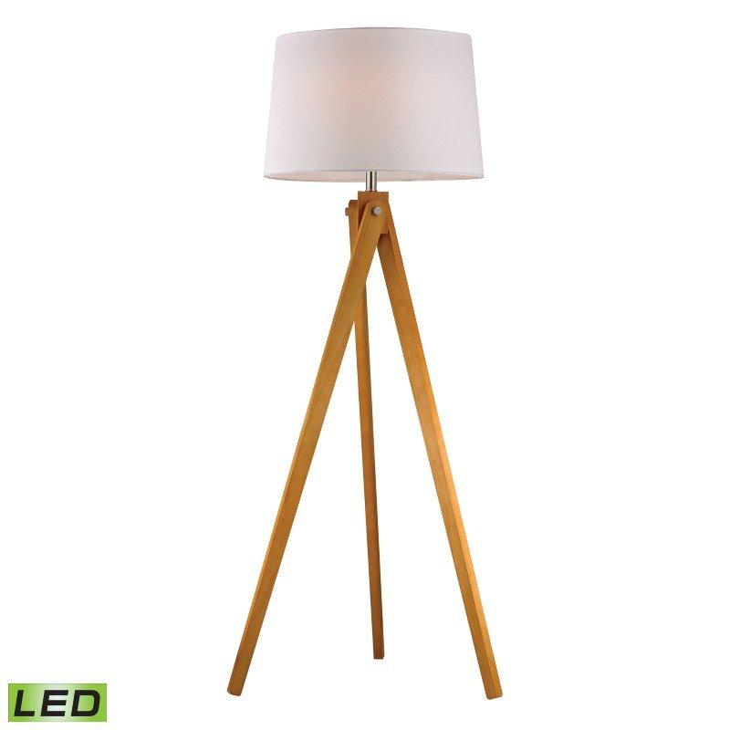 Dimond Lighting Wooden Tripod LED Floor Lamp in Natural Wood Tone (D2469-LED)