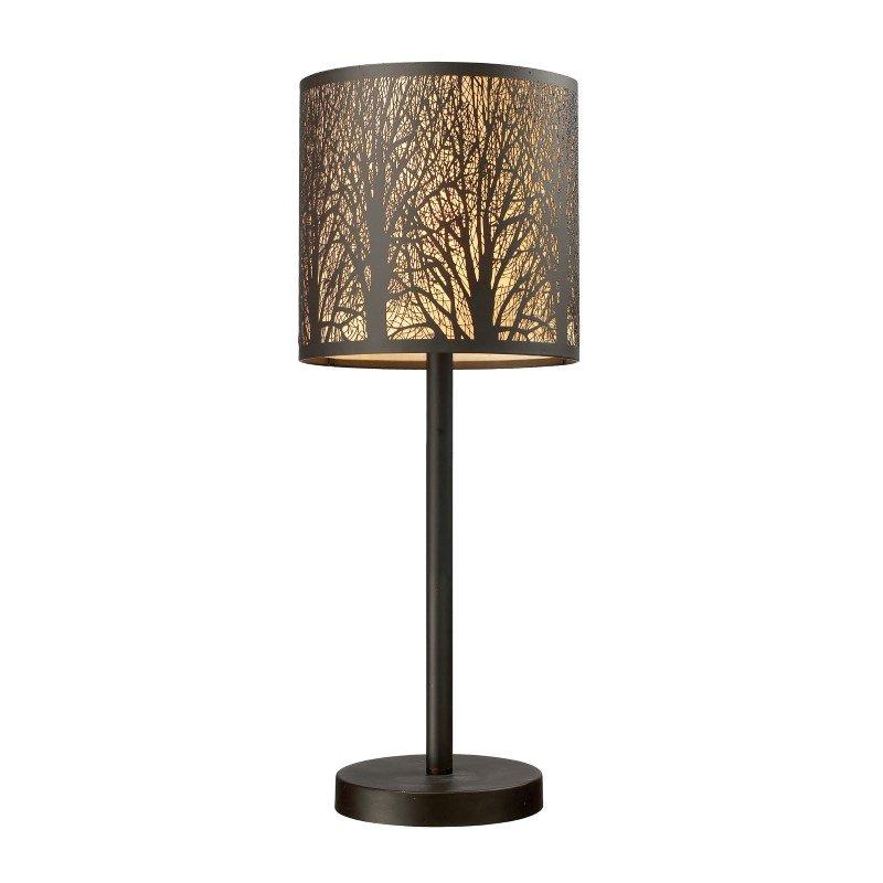 Dimond Lighting Woodland Sunrise 1 Light Portable Lamp In Aged Bronze (31072/1)