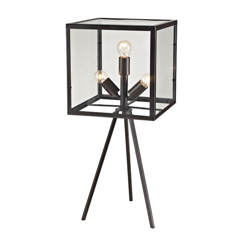 Dimond Lighting Workshop Glass Cube Table Lamp in Aged Bronze (D2658)