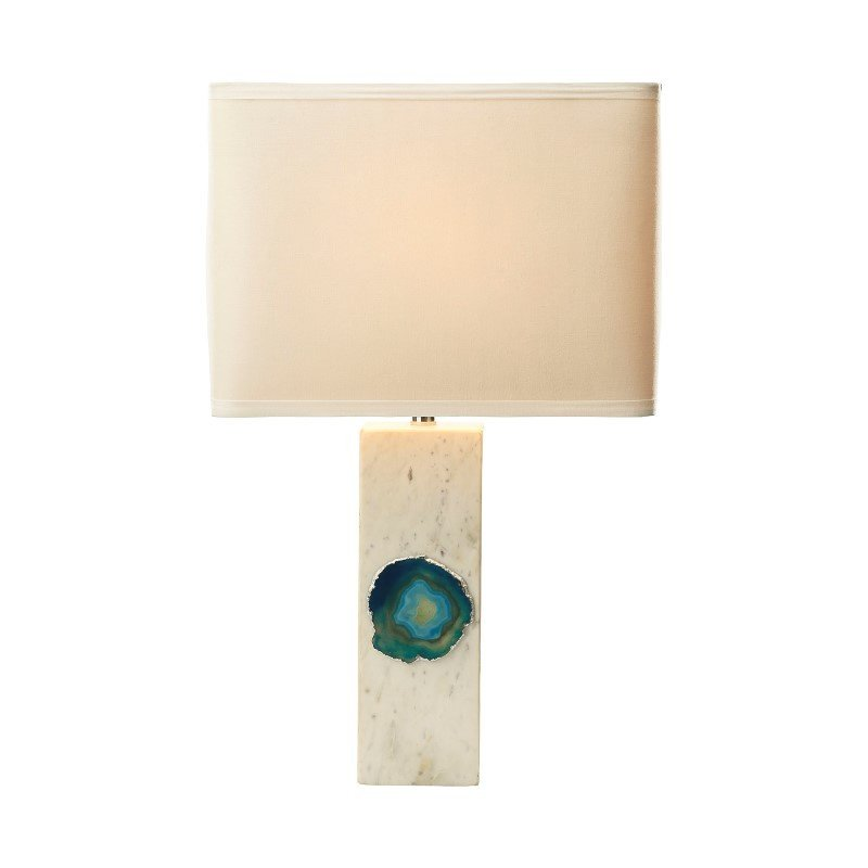 Dimond Lighting Yucatan 1 Light Table Lamp In White Marble And Blue Agate (8989-028)