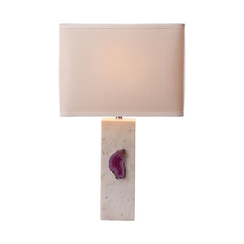 Dimond Lighting Yucatan 1 Light Table Lamp In White Marble And Pink Agate (8989-029)