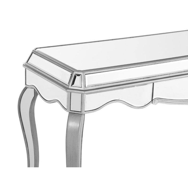 Elegant Decor 1 Drawer Rectangle Desk 52 in. x 19 in. x 31 in. in Silver paint (MF6-1027S)