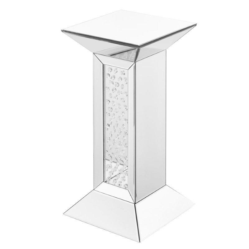 Elegant Decor 12 inch Crystal End Table in Clear Mirror Finish (MF91015)