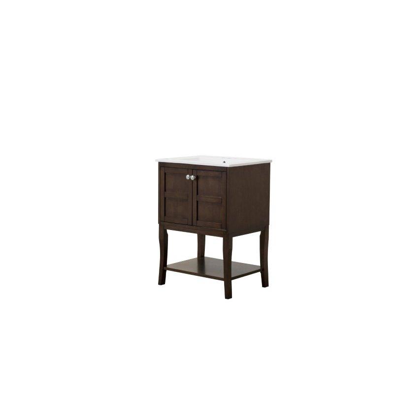 Elegant Decor 2 Doors Cabinet 24 in. x 18 in. x 34 in. in Antique Coffee (VF2102)