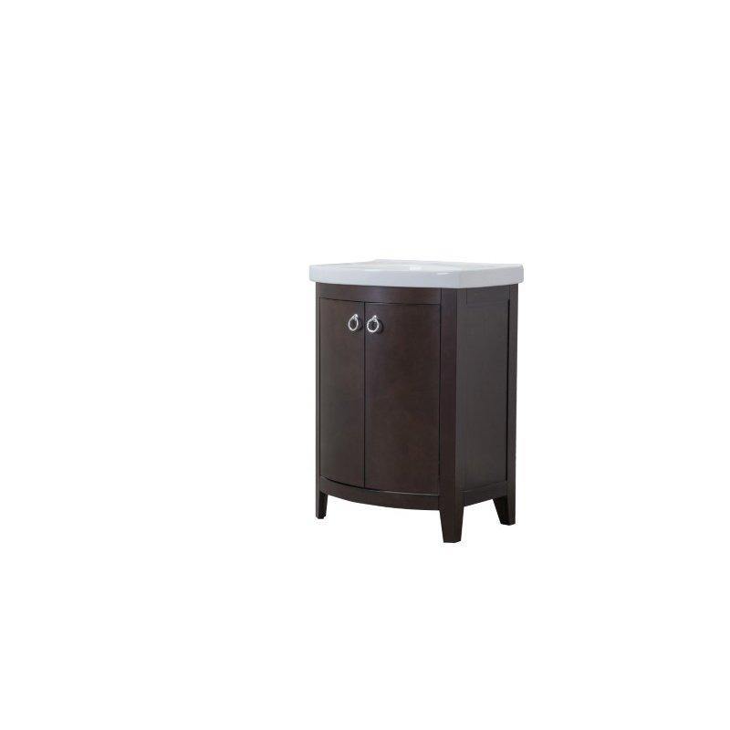 Elegant Decor 2 Doors Cabinet 24 in. x 18 in. x 34 in. in Dark Walnut (VF2104)