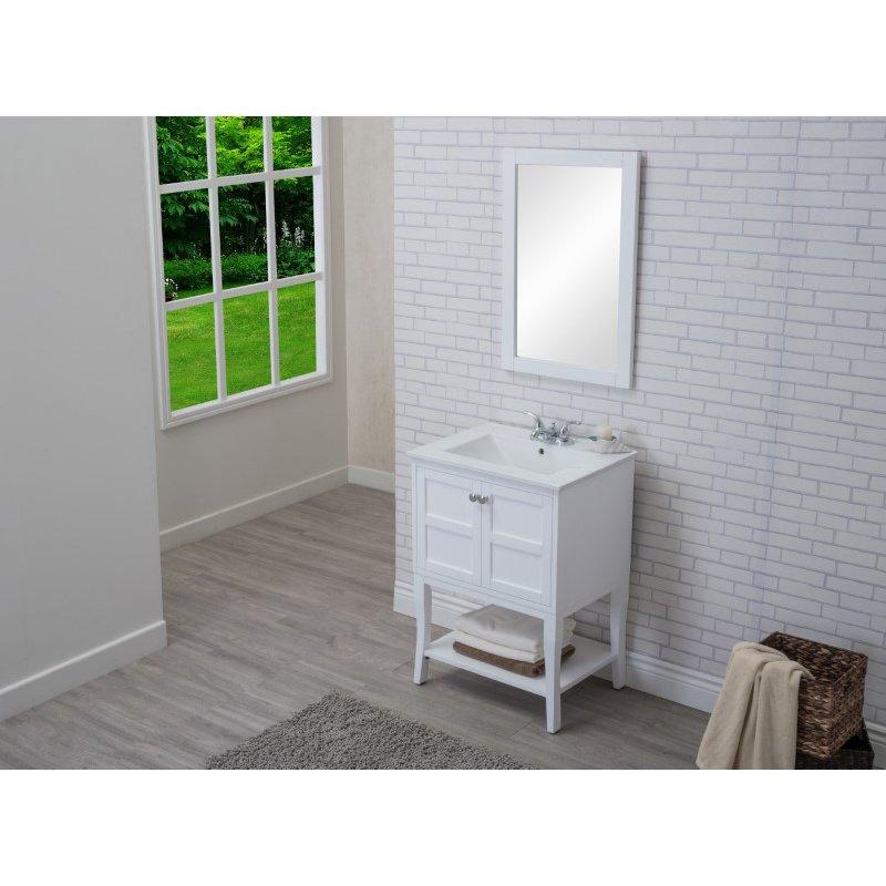 Elegant Decor 2 Doors Cabinet 24 in. x 18 in. x 34 in. in White (VF2100)