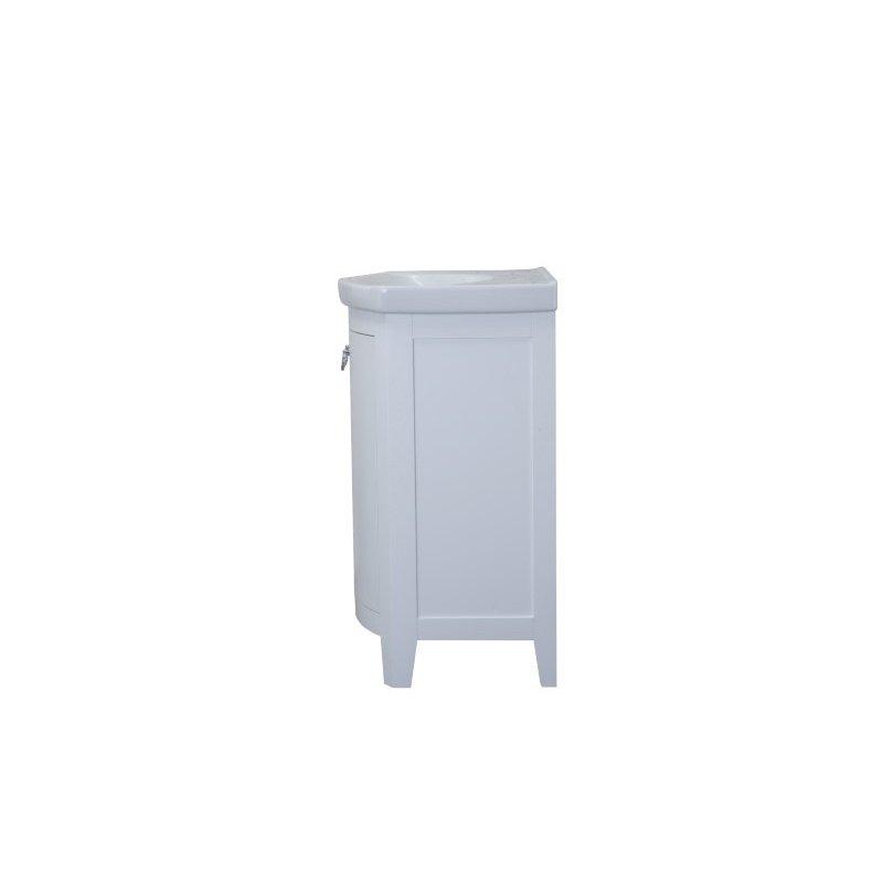 Elegant Decor 2 Doors Cabinet 24 in. x 18 in. x 34 in. in White (VF2103)