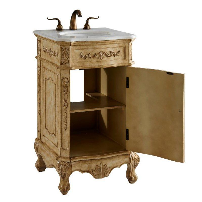 Elegant Decor 21 in. Single Bathroom Vanity Set in Antique Beige (VF10121AB)