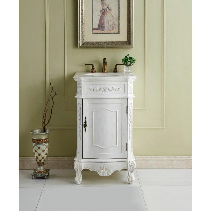 Elegant Decor 21 in. Single Bathroom Vanity Set in Antique White (VF10121AW)