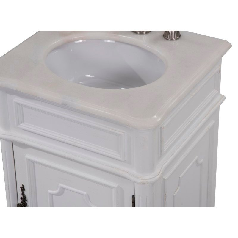 Elegant Decor 21 in. Single Bathroom Vanity Set in Antique White (VF30421AW)