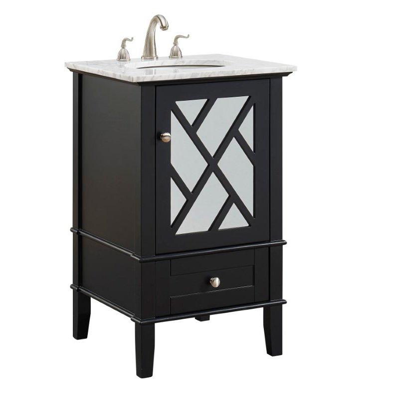 Elegant Decor 21 In.Single Bathroom Vanity Set in Black (VF30221BK)