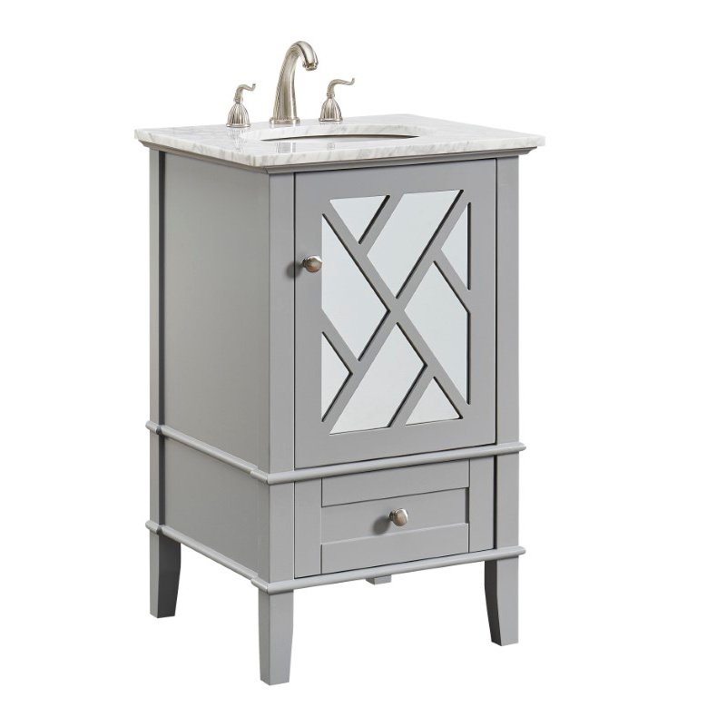 Elegant Decor 21 in. Single Bathroom Vanity Set in Grey (VF30221GR)