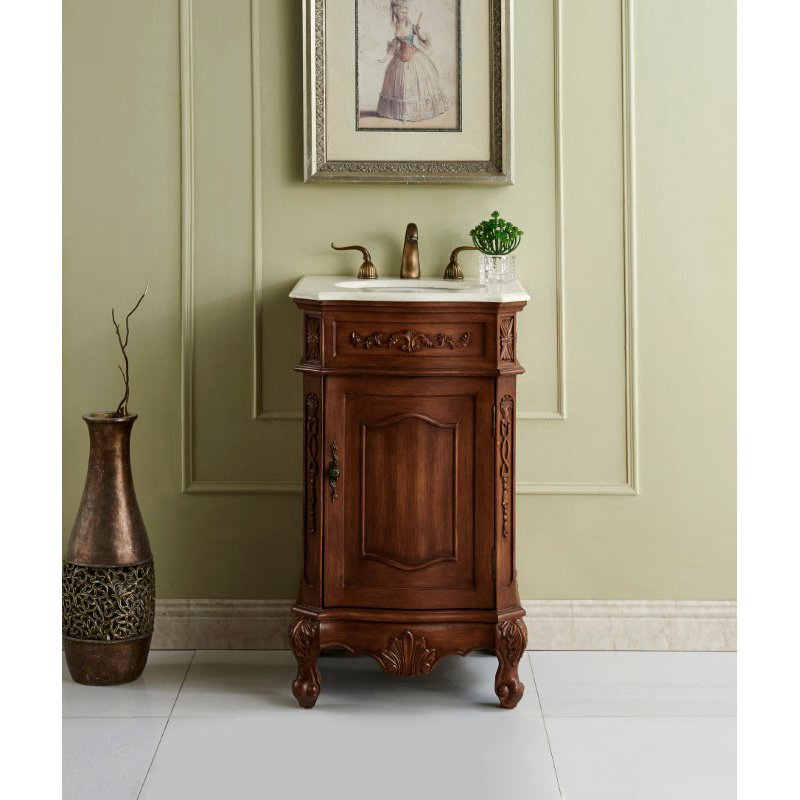 Elegant Decor 21 in. Single Bathroom Vanity Set in Teak Color (VF10121TK)