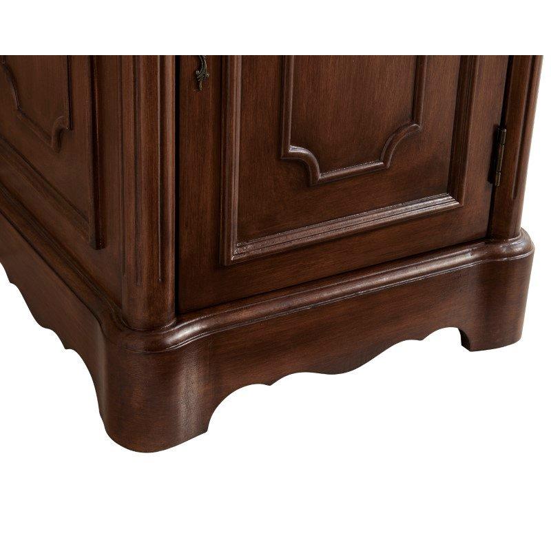 Elegant Decor 21 in. Single Bathroom Vanity Set in Teak (VF30421TK)