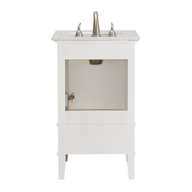 Elegant Decor 21 in. Single Bathroom Vanity Set in White (VF30221WH)
