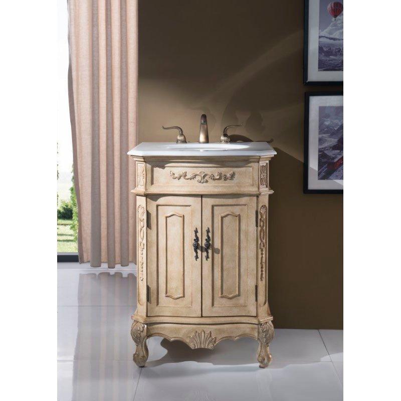 Elegant Decor 24 in. Single Bathroom Vanity Set in Antique Beige (VF-1001)