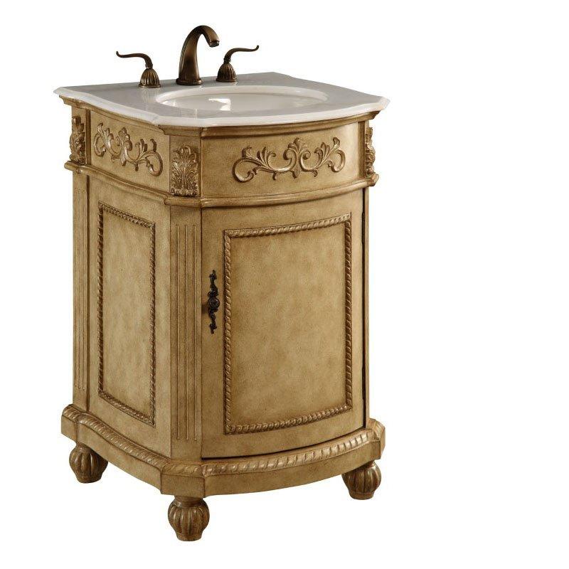 Elegant Decor 24 in. Single Bathroom Vanity Set in Antique Beige (VF-1003)