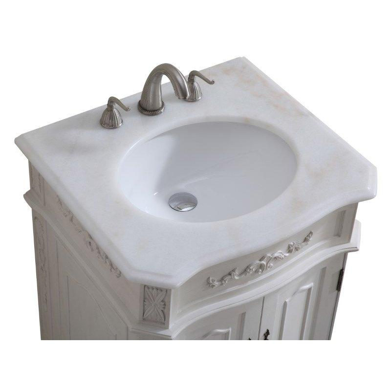 Elegant Decor 24 in. Single Bathroom Vanity Set in Antique White (VF-1006)
